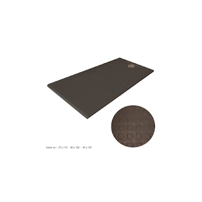 acheter bac douche extra plat d coupable noir resimouv. Black Bedroom Furniture Sets. Home Design Ideas