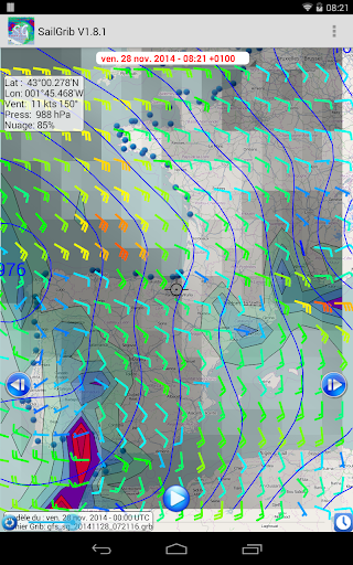 Marine Weather SailGrib - screenshot