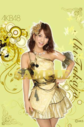 AKB48高城亜樹ライブ壁紙-Shiny Gold-