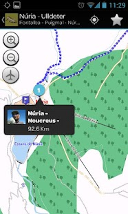 Outdoor routes in Catalonia - screenshot