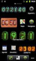 Screenshot of Nixie Clock Widget