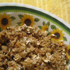 Cinnamon Granola for One (Microwave)