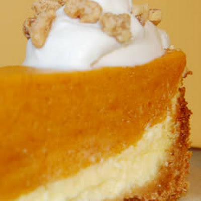 Layered Pumpkin And Cream Cheese Pie