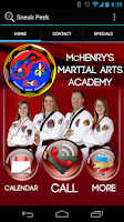 Screenshot of McHenry's Martial Arts