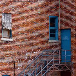 Back of shop by Dan Ferrin - Buildings & Architecture Architectural Detail ( detail, building, details, door, windows, architecture )