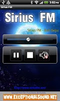 Screenshot of Sirius FM Radio