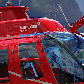 Blackcomb Aviation by Dallas Kempfle - Transportation Helicopters ( helicopter, aviation, red, canada, blackcomb, bc, lillooet,  )