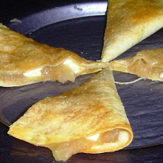 Apple or Cherry or Blueberry Pie  Quesadilla