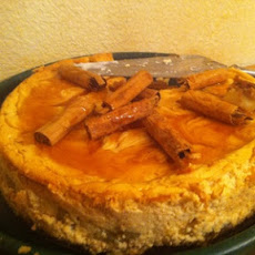 Caramel Swirl-and-Apple Cheesecake