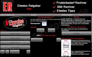 Screenshot of Eiweiss-Ratgeber App