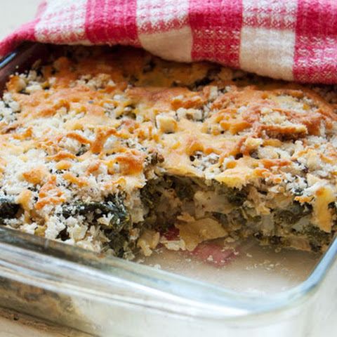 Kale and Cabbage Gratin