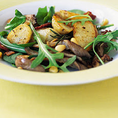 Potatoes, Bacon And Oyster Mushrooms