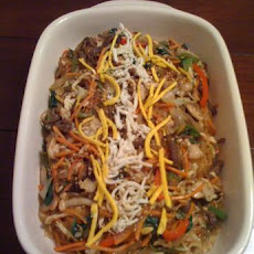 Korean-Style Noodles With Vegetables (Chap Chae)