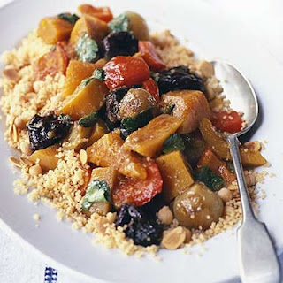 Vegetable Tagine With Almond & Chickpea Couscous