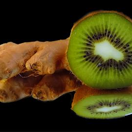 kiwi with vegetables by LADOCKi Elvira - Food & Drink Fruits & Vegetables ( fruits )