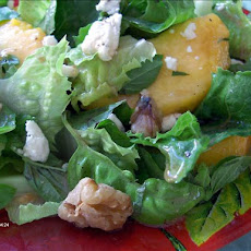 Lettuce, Peaches and Basil