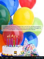 Screenshot of Happy birthday