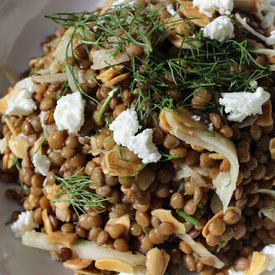 Lentil Salad with Fennel, Almonds and Lemon Vinaigrette