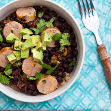 Black Beans with Hatch Chiles, Chicken Sausage, and Quinoa