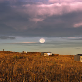 They Never End by Kyle Gorman - Landscapes Prairies, Meadows & Fields ( moonset, canon t5i, paint mines, colorado, landscape )