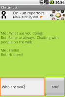 Screenshot of Chatter Bot