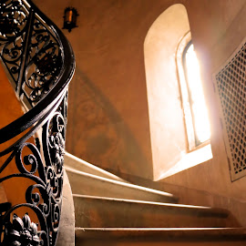 Stairway by Don Webb - Buildings & Architecture Architectural Detail ( stairs, pattern, light )