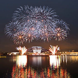Singapore Sport Hub Opening fireworks by Foo Fok - News & Events Entertainment