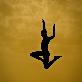 Leap of Faith by Georgia Darlow - People Street & Candids ( uganda, silhouette, boy, portrait, jump )