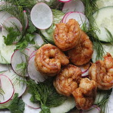 Make-Ahead Marinated Cucumber Salad with Radishes, Dill, and Shrimp