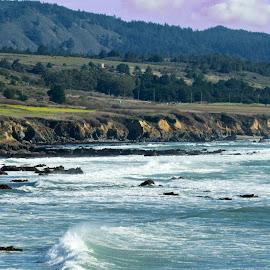 Pigeon Point coastline by Wade Tregaskis - Landscapes Beaches ( waves, coastline, rocks, coast, pigeon point )