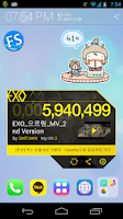 Screenshot of EXO M/V Widget