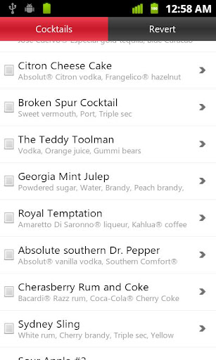 drinks-master-drinks-recipes for android screenshot