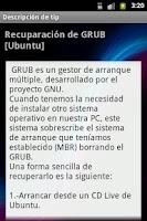 Screenshot of Guía Linux