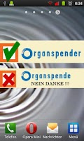 Screenshot of Organspende Ausweis