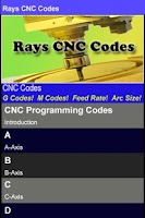 Screenshot of Rays CNC Codes