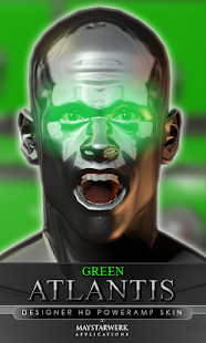 poweramp skin green atlantis - screenshot