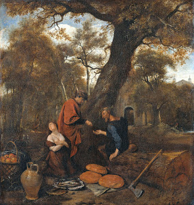 RIJKS: Jan Havicksz. Steen: painting 1660