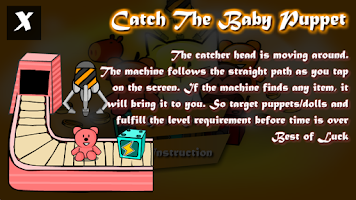 Screenshot of Catch the baby puppet