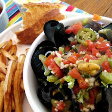 Mussels with Tomatoes, Jalapeño and Tequila