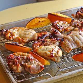 Broiled Orange Honey Glazed Chicken Thighs
