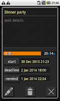 Screenshot of DEADLINE-2DO-NOTES WIDGET