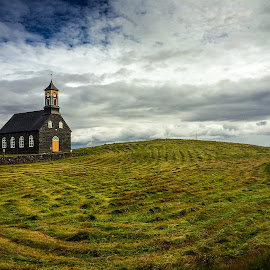 Hvalsnes Church by David Long - Instagram & Mobile iPhone ( iceland, hvalsnes church )