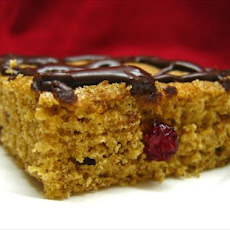 Chocolate-Glazed Cranberry Blondies