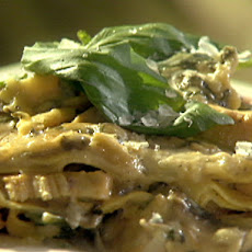 Chicken, Mushroom and Spinach Alfredo Lasagna