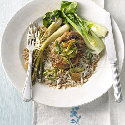 Chinese Braised Pork With Double Spring Onions