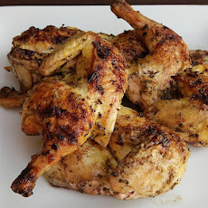 Grilled Cornish Hens with Lemon and Rosemary