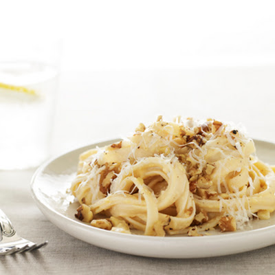 Fettucine with Pumpkin Sauce & Toasted Walnuts