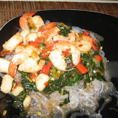 Spicy Shrimp and Scallops With Cellophane Noodles