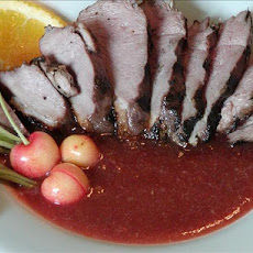 Grilled Duck With Rhubarb Cherry Glaze