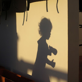 Shadow image by Philip May - Babies & Children Toddlers ( child, playful, shadow, toddler, tinkerbell )